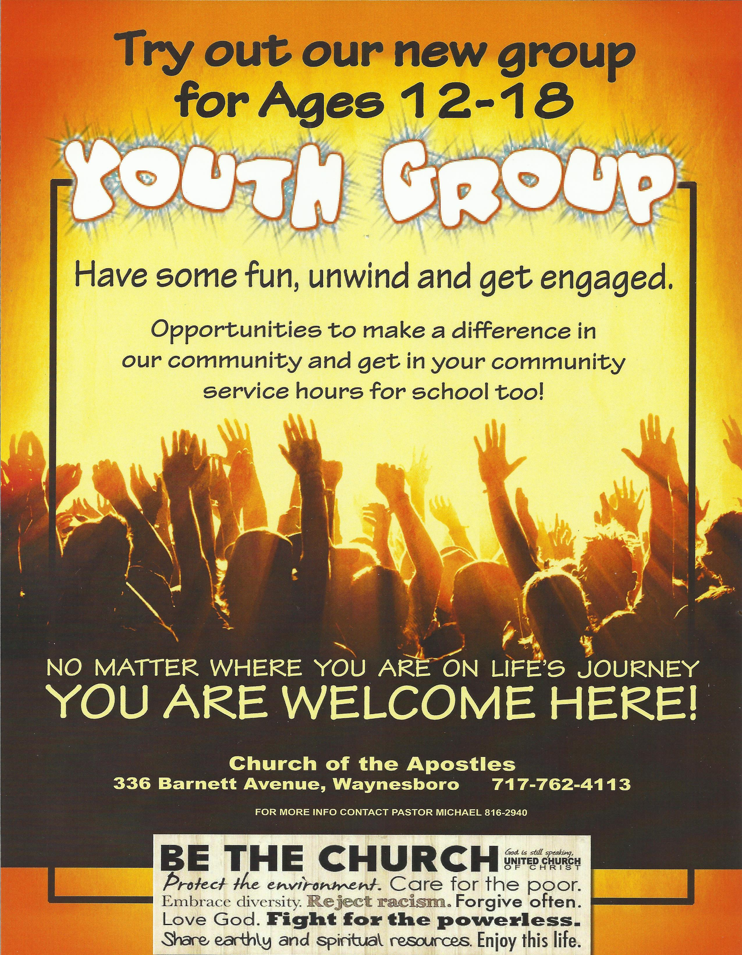 church of the apostles    youth group